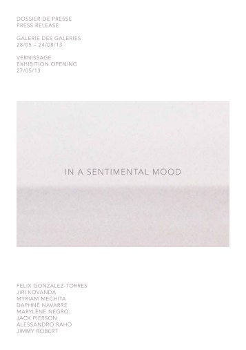 In a sentImental mood - Groupe Galeries Lafayette