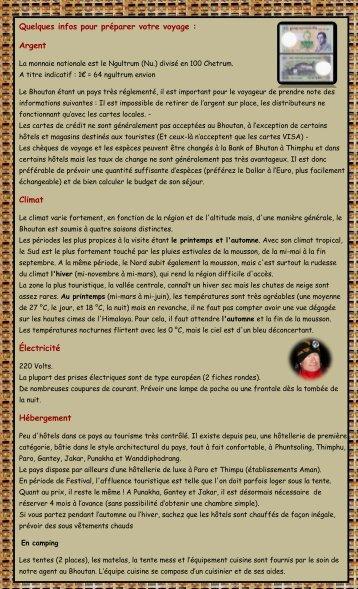 infos pratiques - Parfum d'Aventure