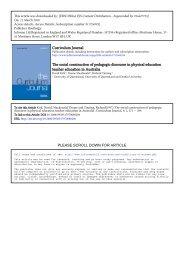Curriculum Journal The social construction of pedagogic ... - USP