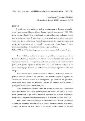 amores e sociabilidades no Recife dos anos entre-guerras - anpuh