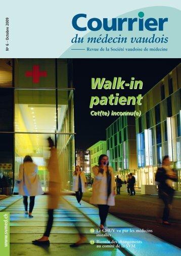 Walk-in patient Walk-in patient - Société Vaudoise de Médecine