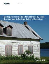 Étude patrimoniale du site historique du poste de relais pour le ...