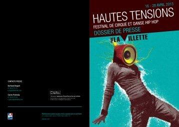 HAUTES TENSIONS - Parc de la Villette