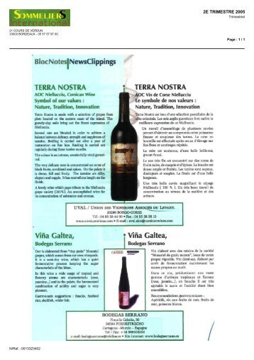 divers - Les vignerons Corsican