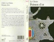 J.M.G. Le Clézio Poisson d'or - Lise Hogervorst