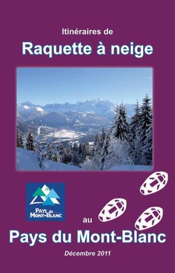 Raquette à neige Pays du Mont-Blanc - Office de haute montagne ...