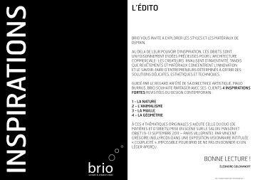Brio-Inspirations Automne-Hiver 2011 - Stratemo