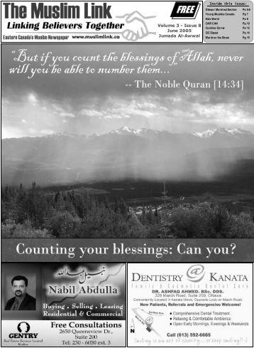 Eastern Canada's Muslim Newspaper - Muslim Link