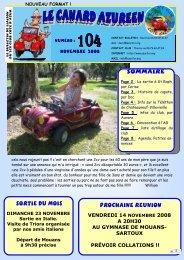Bulletin N°104 du mois de novembre 2008 - Bienvenue sur le site ...
