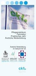 pflegepraktikum famulatur praktisches jahr Ärztliche ... - CKT