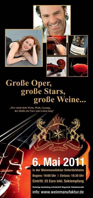 Große Oper, große Stars, große Weine...