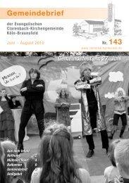 Gemeindebrief 143 - Evangelische Clarenbach-Kirchengemeinde ...
