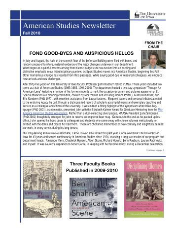 American Studies Newsletter - College of Liberal Arts & Sciences ...