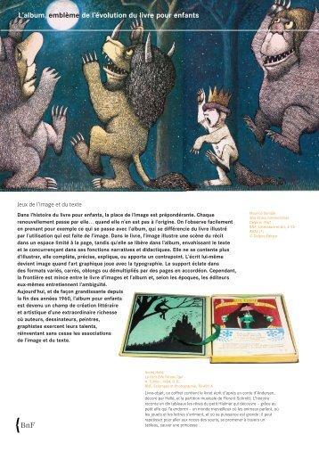 L'album, emblème de l'évolution du livre pour enfants - BnF