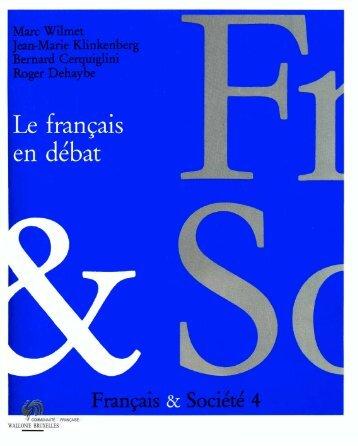 Français & Société 4 - Langue française