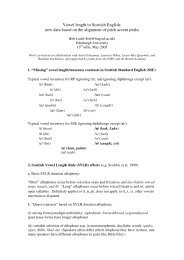 Vowel length in Scottish English - Linguistics and English Language