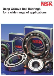 Deep Groove Ball Bearings for a wide range of applications