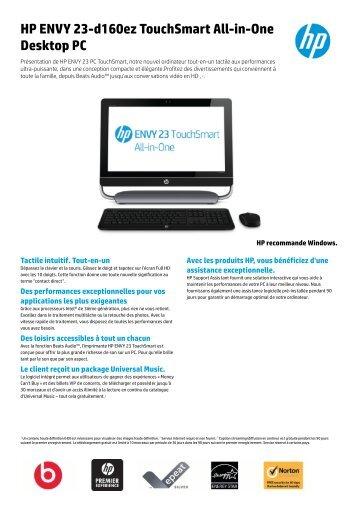 HP ENVY 23-d160ez TouchSmart All-in-One Desktop PC