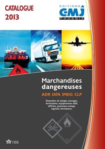 Téléchargement catalogue marchandises dangereuses