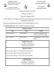 Année Universitaire 2011-2012 Examen semestriel II (Exceptée la ...