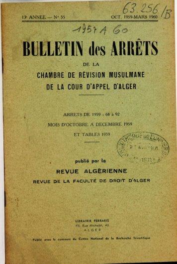1959 B_13e ANNEE N° 55 Octobre-Dec..pdf - Université d'Alger