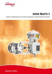 Vannes de régulation Valtek MaxFlo 3 - Flowserve Corporation