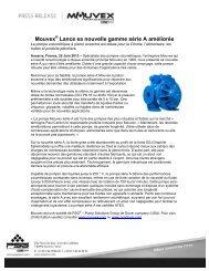 Mouvex® Lance sa nouvelle gamme série A améliorée