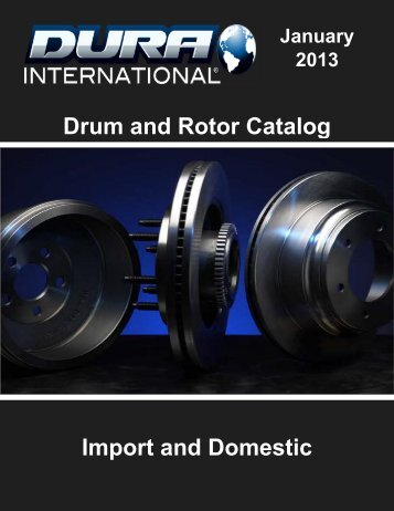Drum and Rotor Catalog