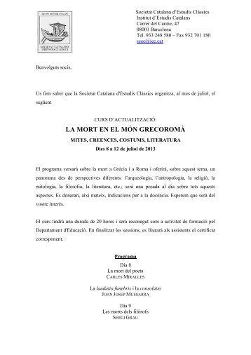 Programa - Portals de l'Institut d'Estudis Catalans