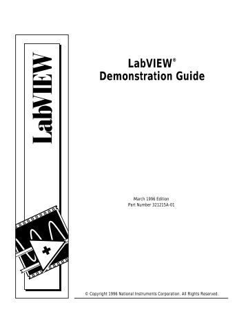 LabVIEW™ Basics II Development Course Manual