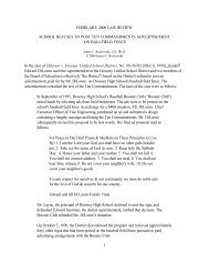 School Refuses To Post Ten Commandments ... - Classweb