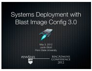 Systems Deployment with PSU Blast Image Config - Classroom and ...