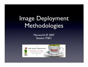 IT831: Image Deployment Methodologies - Penn State University