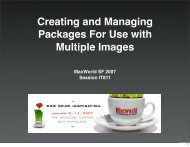 IT811: Creating and Managing Packages for use with Multiple Images