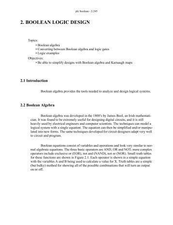 2. BOOLEAN LOGIC DESIGN - Claymore