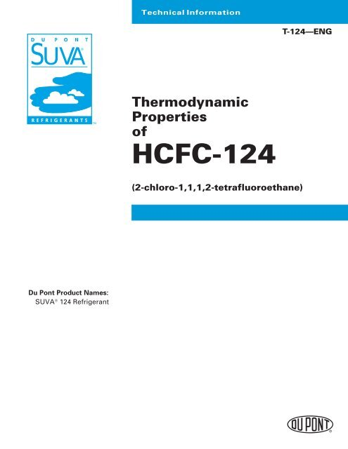 r124 thermodynamic properties claymore