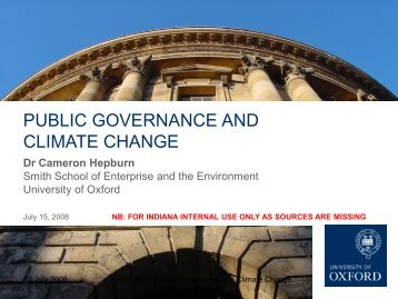 Climate Change: State of Urgency: the Science ... - Indiana University