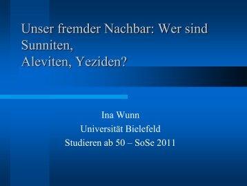 Religiöse Organisation im Islam - Universität Bielefeld