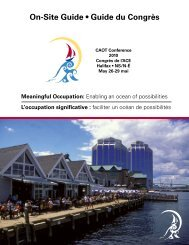 On-Site Guide • Guide du Congrès - Canadian Association of ...