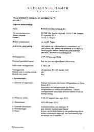 Verslag 1 - Cleerdin & Hamer Advocaten