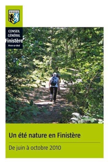 Agenda été nature (pdf - 3,17 Mo) - Conseil Général du Finistère