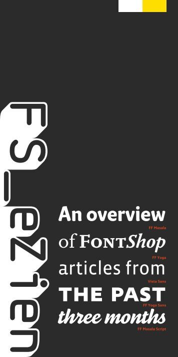 An overview - Fontshop