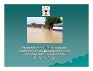 Présentation du plan national multirisques de ... - PreventionWeb