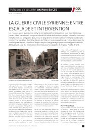 la guerre civile syrienne - Center for Security Studies (CSS)