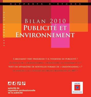 Publicité et Environnement Publicité et Environnement - ARPP