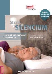 telecharger la brochure de l oreiller anti ronflement - Sissel.fr