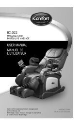 IC1022 USER MANUAL MANUEL DE L'UTILISATEUR - iComfort