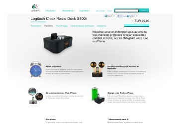 Logitech Clock Radio Dock S400i – Logitech.com - 1000 Ordi