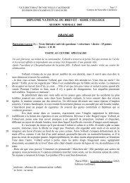 diplome national du brevet - serie college français - Vice-Rectorat ...
