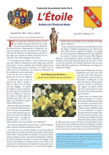 Etoile n° 174 de juin 2010 - En le disant avec des ... - La Porte Latine
